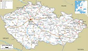 Driving Map Detailed Clear Large Road Map Of Czech Republic Ezilon Maps