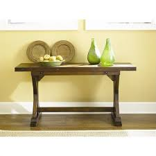 Yellow Console Table Hammary Hidden Treasures Drop Down Console Table In Rustic Finish