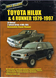 1997 toyota tacoma repair manual toyota hilux 4 runner ln series diesel 1979 1997 sagin workshop