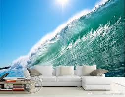 photo customize size 3d sea wave tv wall wallpaper for walls 3 d