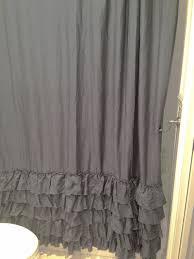 Gray Ruffle Shower Curtain Ruffled Shower Curtains Home Design