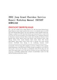 2002 jeep grand cherokee service repair workshop manual instant downl u2026