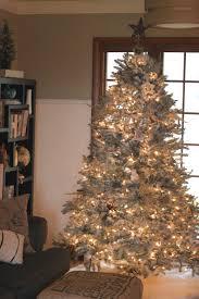 diy flocked christmas tree christmas lights decoration