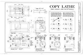 blacksmith shop floor plans file copy lathe top side view end view section a a section