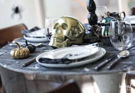 haunted halloween entertaining decor