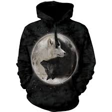 yin yang wolves hoodie wolf gifts myths monsters fairyglen com