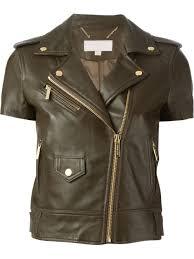biker jacket women arrow women brown short sleeve biker jacket u2013 juyh7