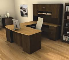 rustic brown lacquered mahogany executive desk which
