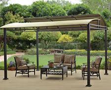 steel frame gazebo metal roof garden outdoor patio pergola canopy