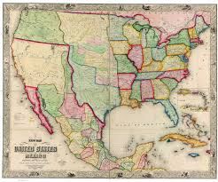 A Map Of United States Usa And Mexico Wall Map Mapscom Mexicounited States Border