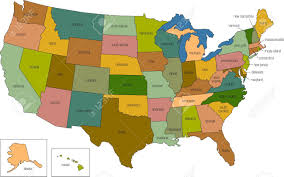 Nebraska State Map A Full Color Map Of The United States Of America With The State