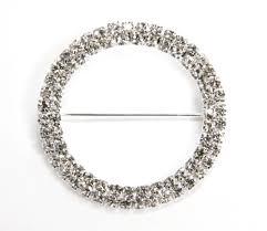 rhinestone buckle bracelet images Round rhinestone metal pin sash buckle silver cv linens jpg