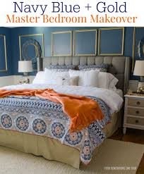 Navy Blue Bedroom by Gorgeous Navy Blue Gold Master Bedroom Makeover Four