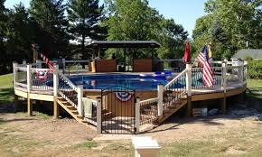 Deck Landscaping Ideas Above Ground Pool With Deck Around It Landscaping Gardening Ideas