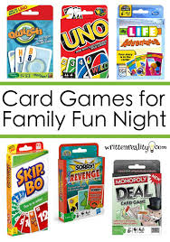 7 best card to play for family written
