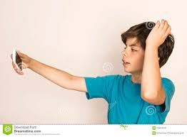 Take A Selfie Young Boy Take A Selfie Stock Photo Image 59454918