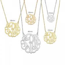 monogram necklace 40mm classic monogram necklace treasures blooming boutique