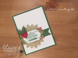 elaine u0027s creations labels to love christmas card