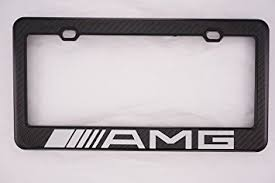 mercedes license plate holder amazon com mercedes amg carbon fiber license plate frame