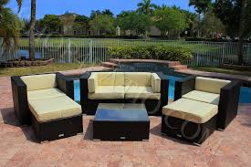 Outdoor Patio Furniture Sectionals 7 Piece Modern Wicker Outdoor Patio Furniture Sectional Sofa Arm