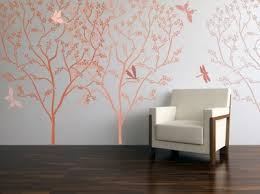 Bedroom Stencils Designs Cherry Tree Blossoming Wall Stencil 5ft Diy Wall Decor