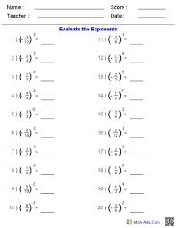 addition addition exponents worksheets free math worksheets