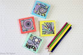 turn coloring book pages into magnets