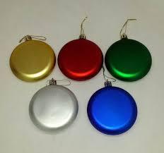 bulk assorted color shatter resistant flat ornaments