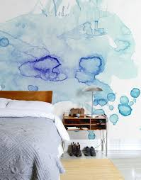 Bedroom Wallpaper Designs by Watercolor Trend Night Stand Bedrooms And Modern