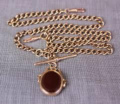 antique necklace chains images Antiques atlas antique rose gold double watch chain necklace jpg