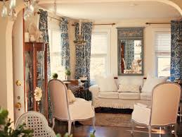 Livingroom Mirrors French Living Room With Patterned Curtains And Wall Mirror