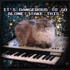 Cat Playing Piano Meme - cat on a keyboard in space know your meme