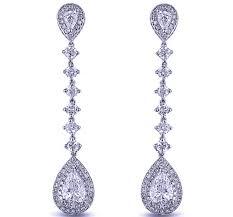 dangling earrings diamond earrings pear shape diamond dangling earrings 2 98 tcw