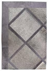 White Grey Rug Directory Galleries Modern Leather Area Rugs