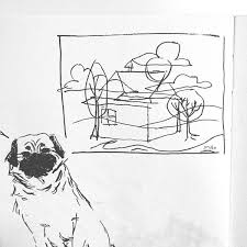 carolinschweizer sketch train house pug u2013 carolin schweizer