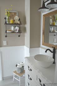 farmhouse bathroom reveal vintage nest