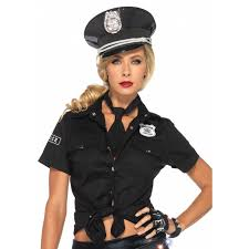 Size Halloween Costume Police Woman Costume Shirt Costumes Women