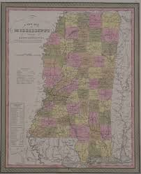 County Map Of Mississippi Antique Maps Of Mississippi
