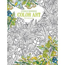 leisure arts color art living wonders coloring bk walmart com