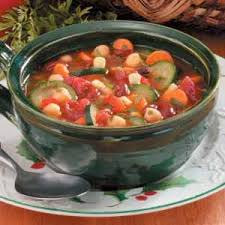 hearty vegetable bean soup recipe taste of home
