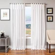 Tie Top Curtains White Tie Top Curtains U0026 Drapes Shop The Best Deals For Nov 2017