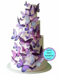 butterfly wedding cake wedding cake topper purple edible butterfly wedding