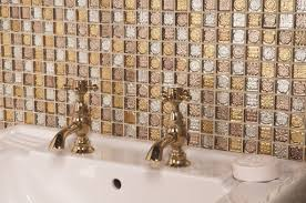 bathroom iridescent glass tile glass subway tile backsplash