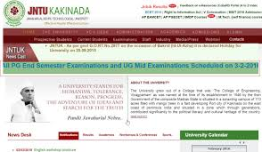 jntuk all pg end semester exams u0026 ug mid examinations scheduled on
