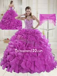 fuchsia quinceanera dresses gown sweetheart brush beading quinceanera dresses in