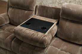 Furniture In Los Angeles Ca Motion Sofa 603031 In Mocha Fabric By Coaster W Options