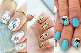 select a fashion style super cute summer nail art design to try