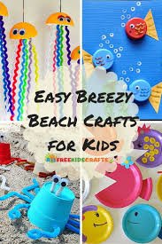 5 beach arts and crafts for kids allfreekidscrafts com