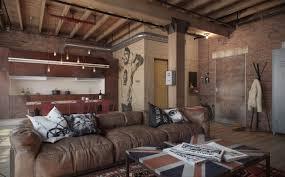 modern concept loft apartment brick eclectic bachelor retreat
