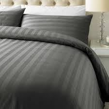 luxury 800 thread count cotton rich satin stripe duvet cover with